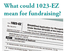 The New IRS Form 1023-EZ Good Or Bad For Nonprofits